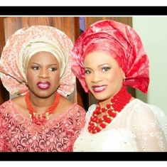 Adebisi with her immediate junior Sister Adetutu