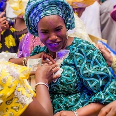 Adebisi at her Mum's 80th Birthday celebrations