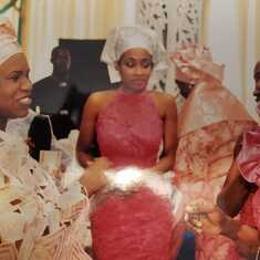 Adebisi with her nieces