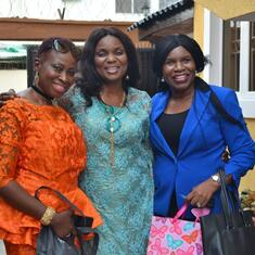 Adebisi with her two jolly good friends (Mrs Ronke Olamilokun & Mrs Nike Olayinka)