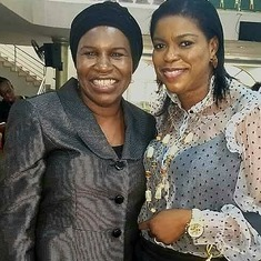 Bisi with her jolly good friend (Mrs Bunmi Olafusi)