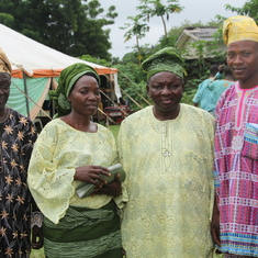 Dad  & Mum with his brother Rev. Kehinde, during Akinkunmi's wedding in Oyo 2014