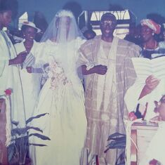 My Godfather walking me up the aisle at St Michael's Anglican Church, Epe on 7th September, 1991.