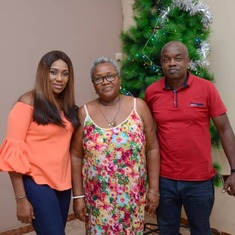 Mum with Okenna and Oma