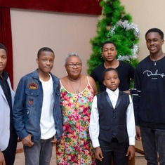 Mum with her grandsons