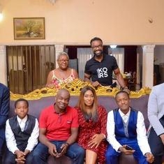 Mum with Okenna's family and Ihekwaba
