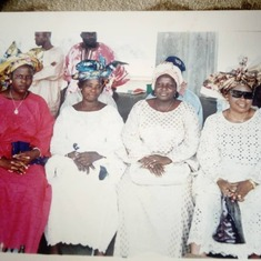 Mum with some members of the Ladies' Progressive Society; Wesley Methodist Church; Zaria
