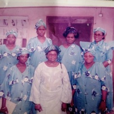 Mum with members of the Ladies Progressive Society of Zaria