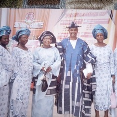 Mum & Dad with friends from Zaria at Kemi's  wedding