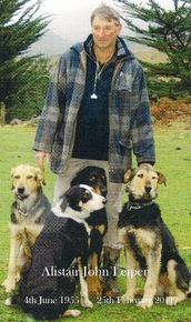 Alistair with his dogs