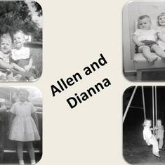Al with Dianna...Top left 1957, Bottom right 1958