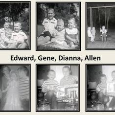 Al with Ed, Gene, and/or Dianna.  Top 2 pictures are from 1957 and top right is from 1958.