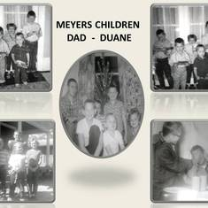 Meyers Children with Dad Duane 1967.  Top 2 pictures are from 1961