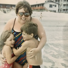 Swimming with mom - Myrtle Beach