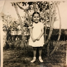 Probably taken at age six (1954)