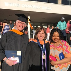 My amazing brother Stewart gets another Master's degree (this one for Nursing)!  Here he is with the most amazing woman in the world, Sister-in-Law, Antonia, and their favorite Washburn professor, Dr. Lori Edwards, DNP, MSN, RN.