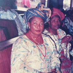 Mum Beyestic With Mummy Arin in Church in her time