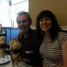 08-23-2014 Dad and Me at Leatherby's