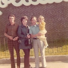 Morris, Melita, Dad and me
