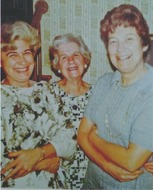Audrey with her mother Vera Jeanette Davis Mattson and sister Janet Mattson Schrock