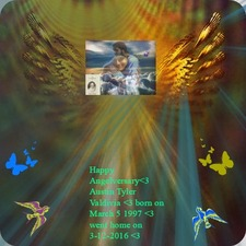<3 I made this for Austin on  his first  year Angelversary <3