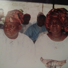 Picture of Prof and Mrs.Adepoju..Nov 12, 2005@Adewole Estate Ilorin