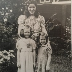 Mom, front left, with her mom, and sister, Sissy.