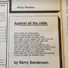 Barry's poem that made it in the shooting mag