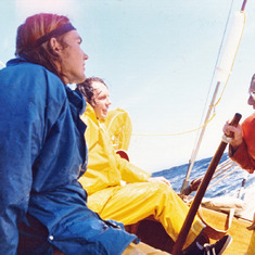 Bound for San Miguel with Jorgen Randers, myself and several other ES people, 1973