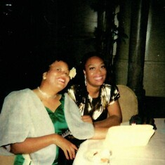 Constance with her sister, the late Marva (Davis)