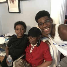 Mom with her grandsons, Gabriel and Sokipiriye