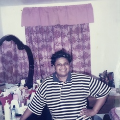 Mom chilling in her room