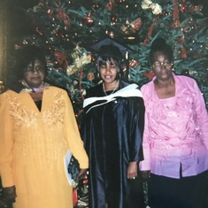 Mom, me, and God mother at my college graduation