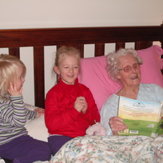 Reading time with Grandma 1