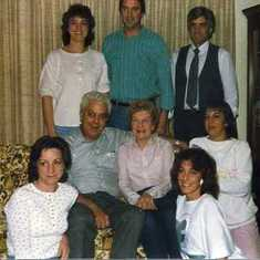 Bev and her parents and siblings: Arnie and Rosemary Robinette, Joe, John, Barb, Rosalie and Roberta