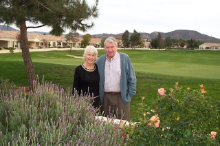 Here is Colette and Bill Gwinn outside their home in Sun Lakes, 2006