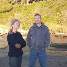 Thanksgiving in Oregon-Anne Marie Cole and Brendan on Coast