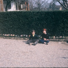 Brendan and Evie at Villa Kersam, Mies, Vaud Switzerland 1963