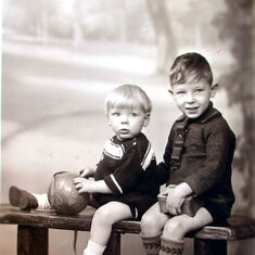 Brian (aged 2) and older brother, Dennis