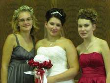 Brittani is first in the photo, then her sisters, Chelsey and Breeanna.