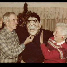 Bruce's sometime teaching mask, as shown to his parents.