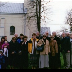 Poland family trip, 2001, at his grandmother's birthplace.