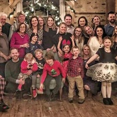 Bruce's extend Polish family, which held dear. They continue to embrace us in his absence, with twice annual gatherings. Summer in Saratoga, and Wigilia in mid-December, complete with Santa.
