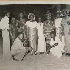 Mummy Caroline with Morenike, Mama, Mummy Bisi Ilemia and Others during a Party in the '70s.
