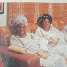 Mummy Caroline with Sisters in Lagos during Dupe's Wedding.