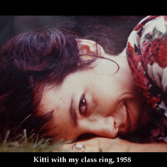Kitti with my class ring