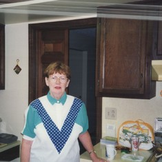 Barbara Tippett in Kitchen in Reynoldsburg, Ohio home