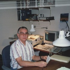 Charles in his Home Office in Reynoldsburg, Ohio
