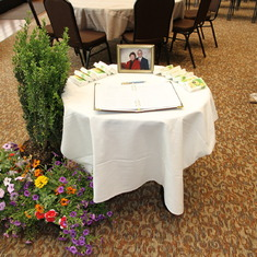 Memorial Service Guest Book Table