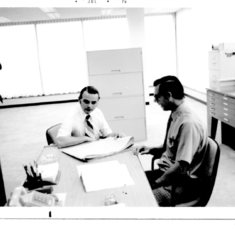 Charles Tippett and Vern Benson at E&E Insurance During Westerville Building Construction Planning  005